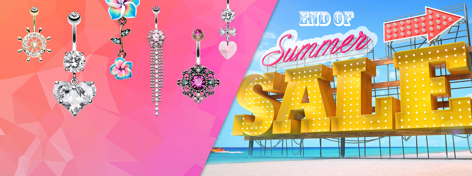 End of Summer Belly Ring Sale