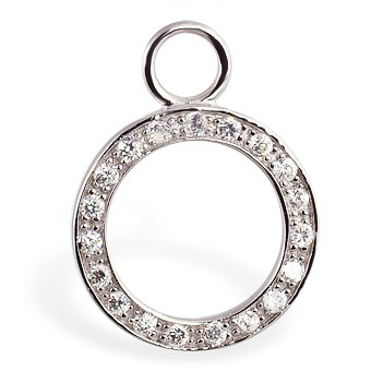 Buy Belly Rings. TummyToys Paved Circle of Life Swinger Charm - Changeable Floating Swinger Charm