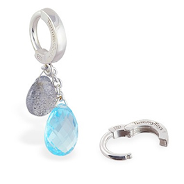TummyToys® Blue Topaz and Labradorite  on Plain Clasp
