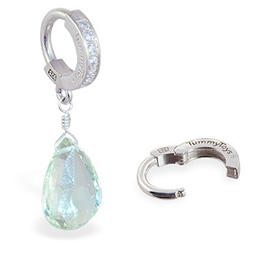 TummyToys® Green Amethyst Navel Jewellery