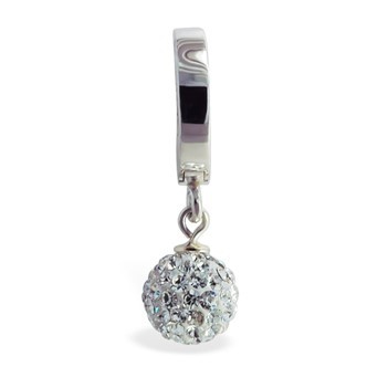 TummyToys® Silver Disco Ball Belly Ring. Shop Belly Rings.