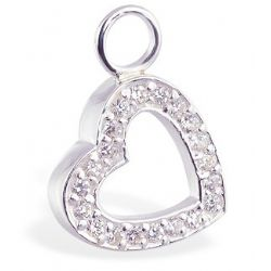 TummyToys® CZ Open Heart Charm