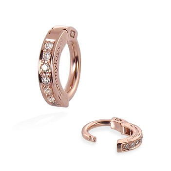 TummyToys® Rose Gold Diamond Pave Sleeper. Belly Rings Shop.