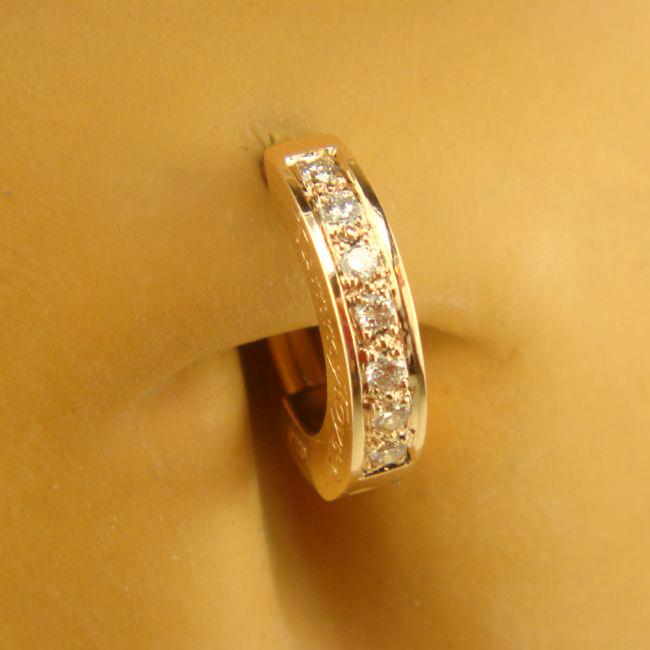 tummytoys rose gold diamond pave sleeper resizable navel. Black Bedroom Furniture Sets. Home Design Ideas