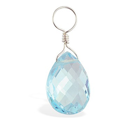 TummyToys® Dangly Blue Topaz Swinger Charm