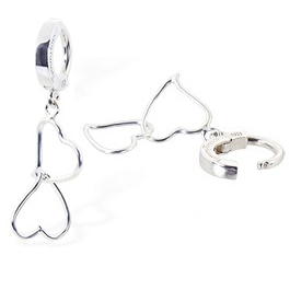 TummyToys® Silver Double Heart Charm