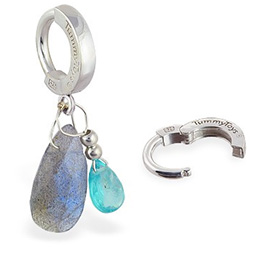 TummyToys® Apatite and Labradorite Belly Ring