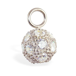 TummyToys® Cubic Zirconia Disco Ball Swinger