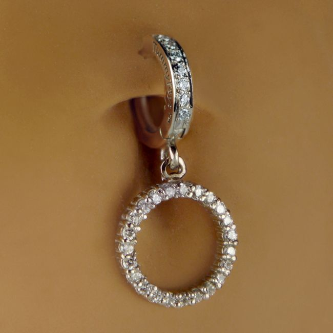 TummyToys® Pure Platinum Circle of Life Navel Ring. Quality Belly Rings.